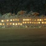 雪ぼんぼり写真