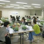 寄せ植え教室の様子